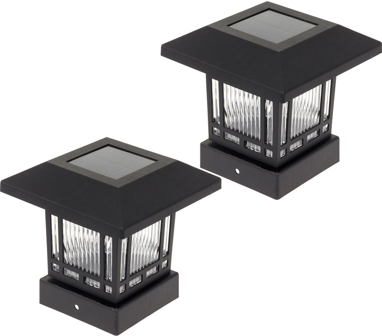 Westinghouse Solar 20 Lumens 4x4 Post Light for Wood Posts (Black, 2 Pack
