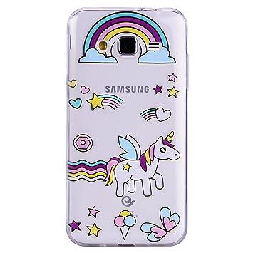 Funda Samsung Galaxy J3 2016, CXTcase Slim Fit Carcasa Case TPU Bumper Silicona Gel Transparente Suave Goma Cover Anti-rasguños Galaxy J3 2016 Carcasa ...