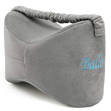 Rodilla almohada, ballery pierna de espuma de memoria cojín para ciática Alivio, dolor de espalda, dolor en la pierna, embarazo, cadera y dolor en las ...