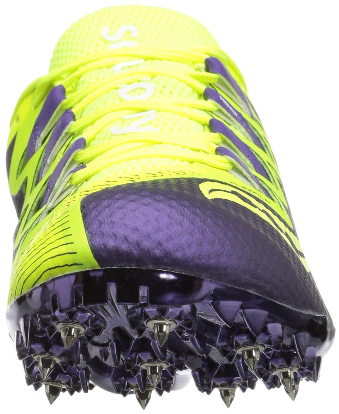 Saucony Women's Showdown 4 Track Shoe, Citron/Purple, 9.5 M US by Saucony (Image #4)