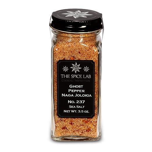 The Spice Lab - Ghost Pepper Salt (Naga Jolokia) - Gluten-Free Non-GMO All Natural Premium Gourmet Spicy Salt - No. 237