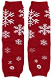 Babylegs Baby-Girls Infant Snow Queen Leg Warmer, Red/Silver, One Size