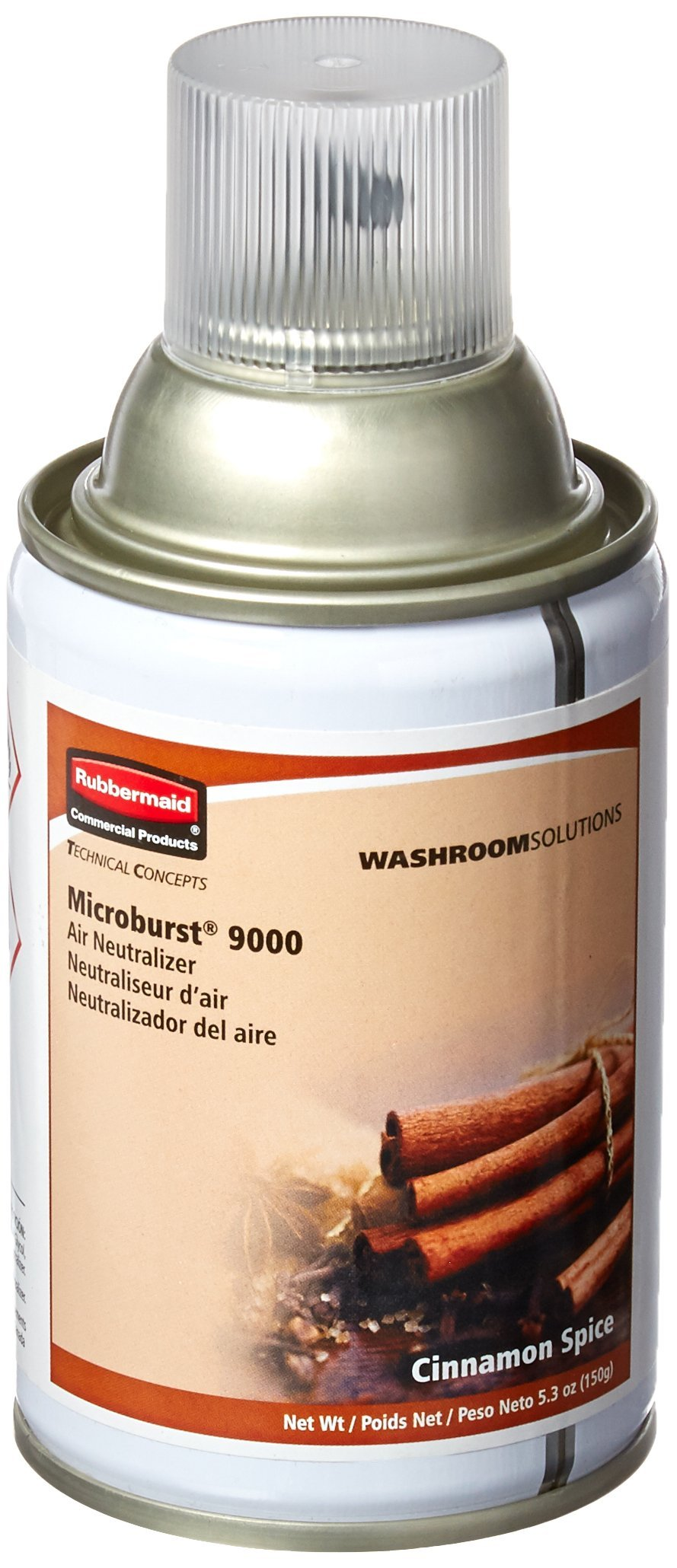 Rubbermaid Commercial FG401692 Refill for Microburst 9000 Automatic Odor Control System, Cinnamon Spice