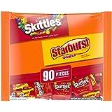 SKITTLES & STARBURST Halloween Candy Fun Size Variety Mix, 39.1 oz. 90 Pieces