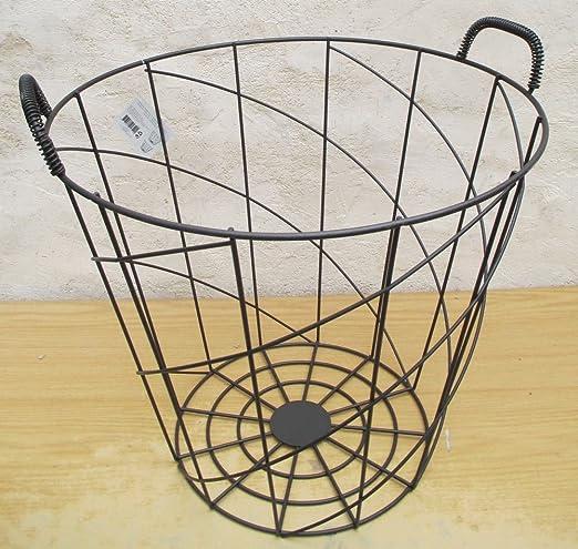 Gran cesta cesto a ropa o Jardiniere en hierro forja Decoration casa para jardín Exterieur o salón Interieur: Amazon.es: Hogar