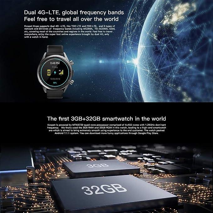 Amazon.com: CZWNB 4G Smart Watch 3+32G Large Memory ...