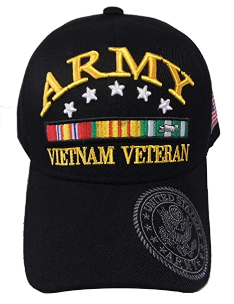 7fb532af7f24d1 ARMY STRONG Men's U.S. Army Vietnam Veteran Hat Military Baseball Cap (One  Size Fits All, Army 5 Star) at Amazon Men's Clothing store: