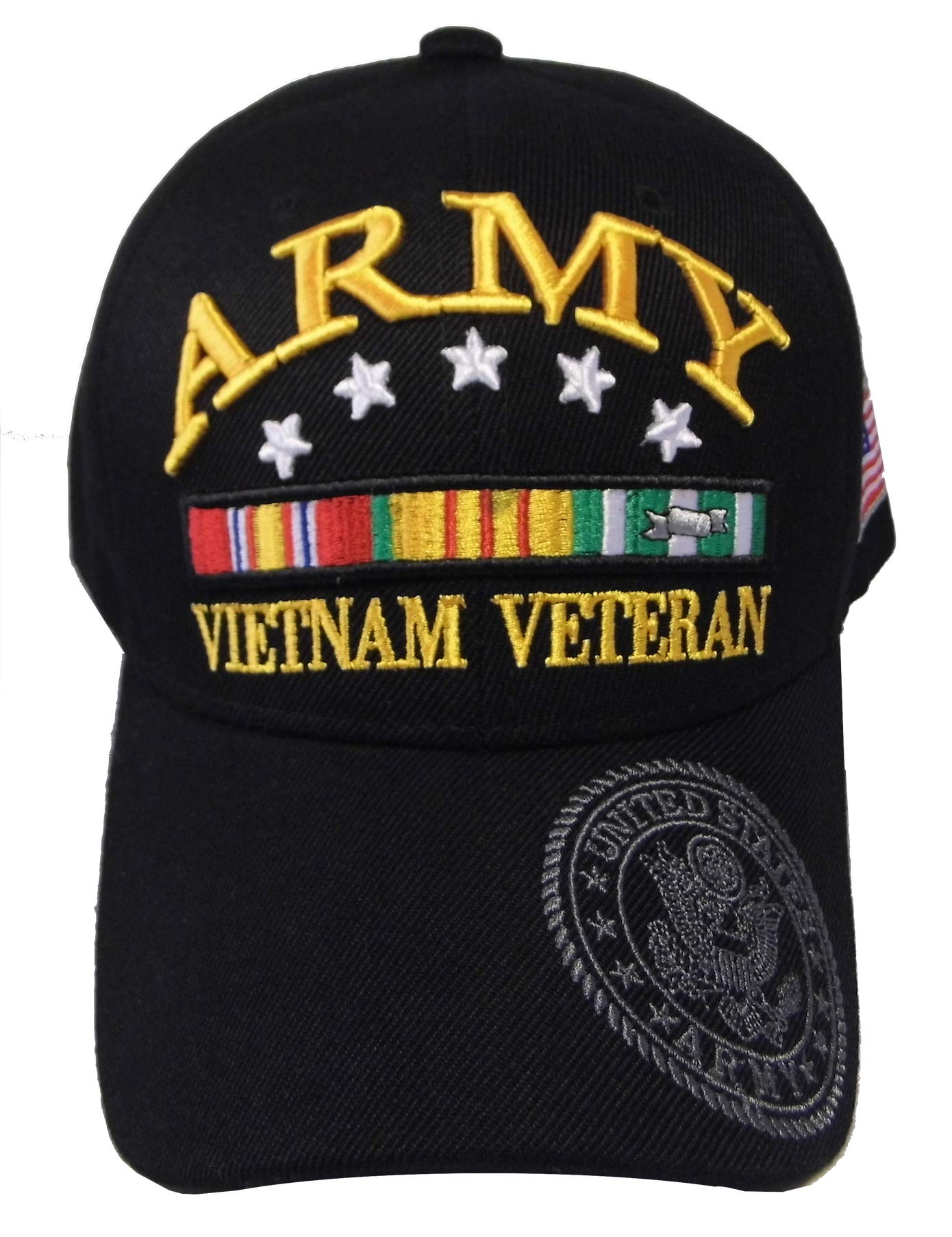 ARMY STRONG Men's U.S. Army Vietnam Veteran Hat Military Baseball Cap (One Size Fits All, Army 5 Star)