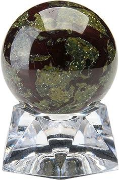 Stand Rare Quartz Red Cat Eye Crystal Healing Ball 37-40mm