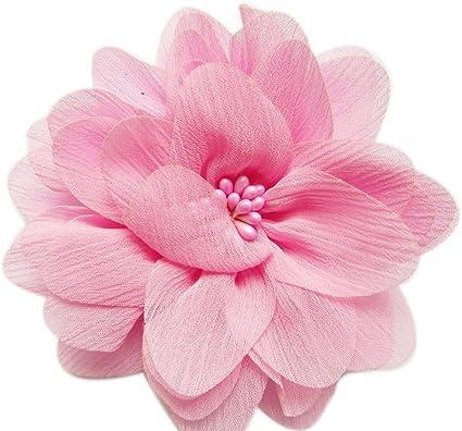 Wholesale Flowers DIY Headband Supplies Large Ivory Chiffon Flowers Chiffon Rhinestone Flowers Beaded Flowers You Choose Quantity
