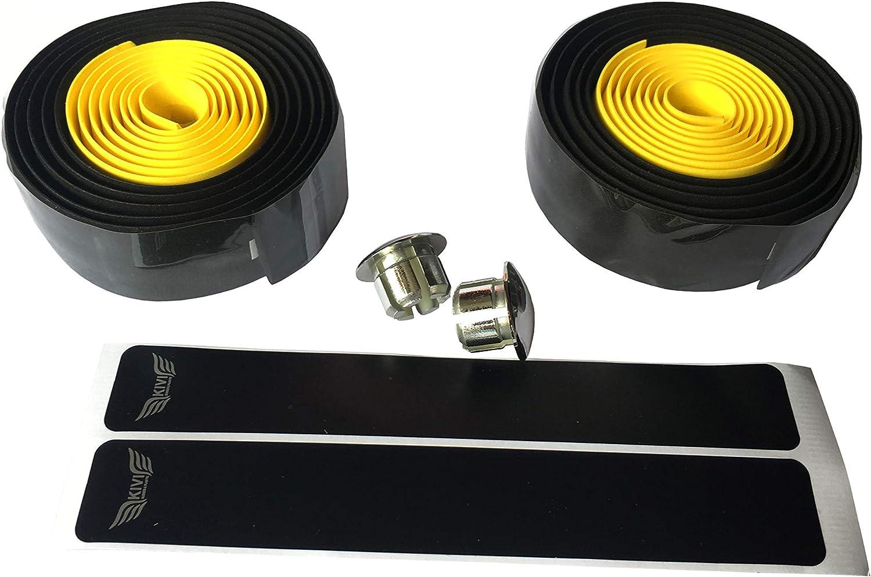 DEERU Two-Tone Tape Bicycle Bar Tape Handlebar Tape Bar Wraps 2 Rolls per Set
