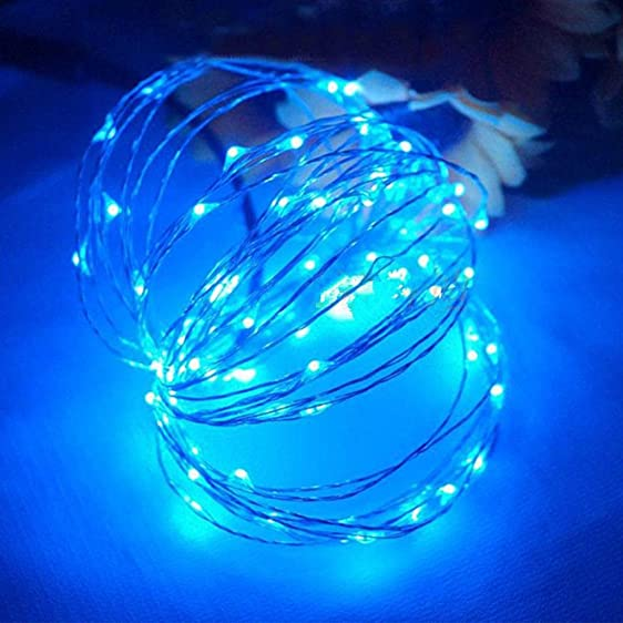 Amazon.com: Kanzd 100 LED Battery Powered Copper Wire Fairy String ...