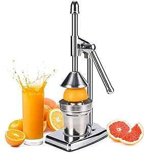 Professional Citrus Juicer - Manual Citrus Press and Orange Squeezer,Metal Lemon Squeezer,Heavy Duty Manual Hand Press Citrus Juicer Squeezer Machine