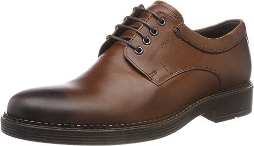 TALLA 39.5/40 EU. ECCO Newcastle, Zapatos de Cordones Oxford Hombre