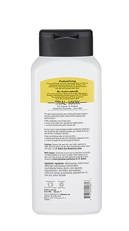 J.R. Watkins Daily Moisturizing Body Wash, Lemon Cream, 18 ounce Pack of 6