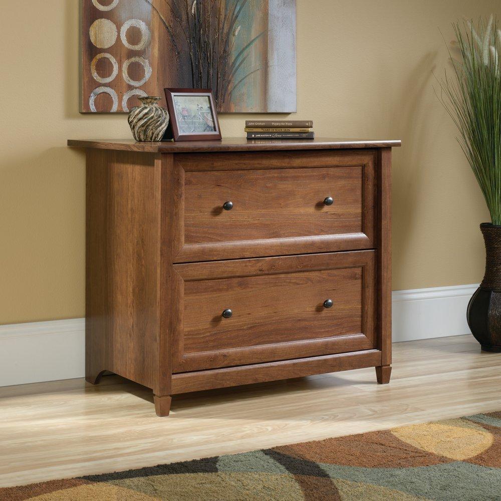 Cherry File Cabinets Amazoncom Sauder Edge Water 2 Drawer File Cabinet In Auburn