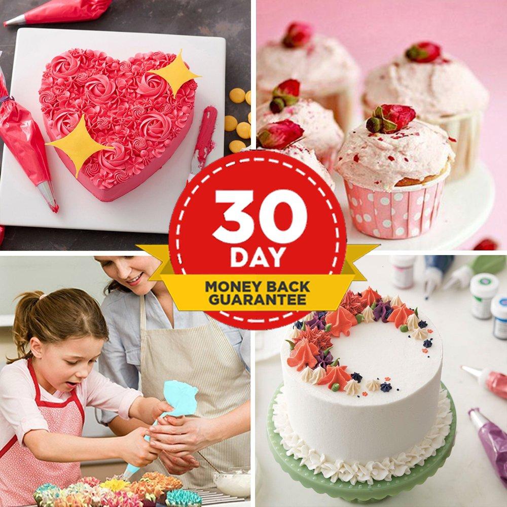 40 en 1 kit de decoración de pasteles suministros con 24 profesional de acero inoxidable decoración de pasteles consejos 10 mangas pasteleras desechables 2 ...