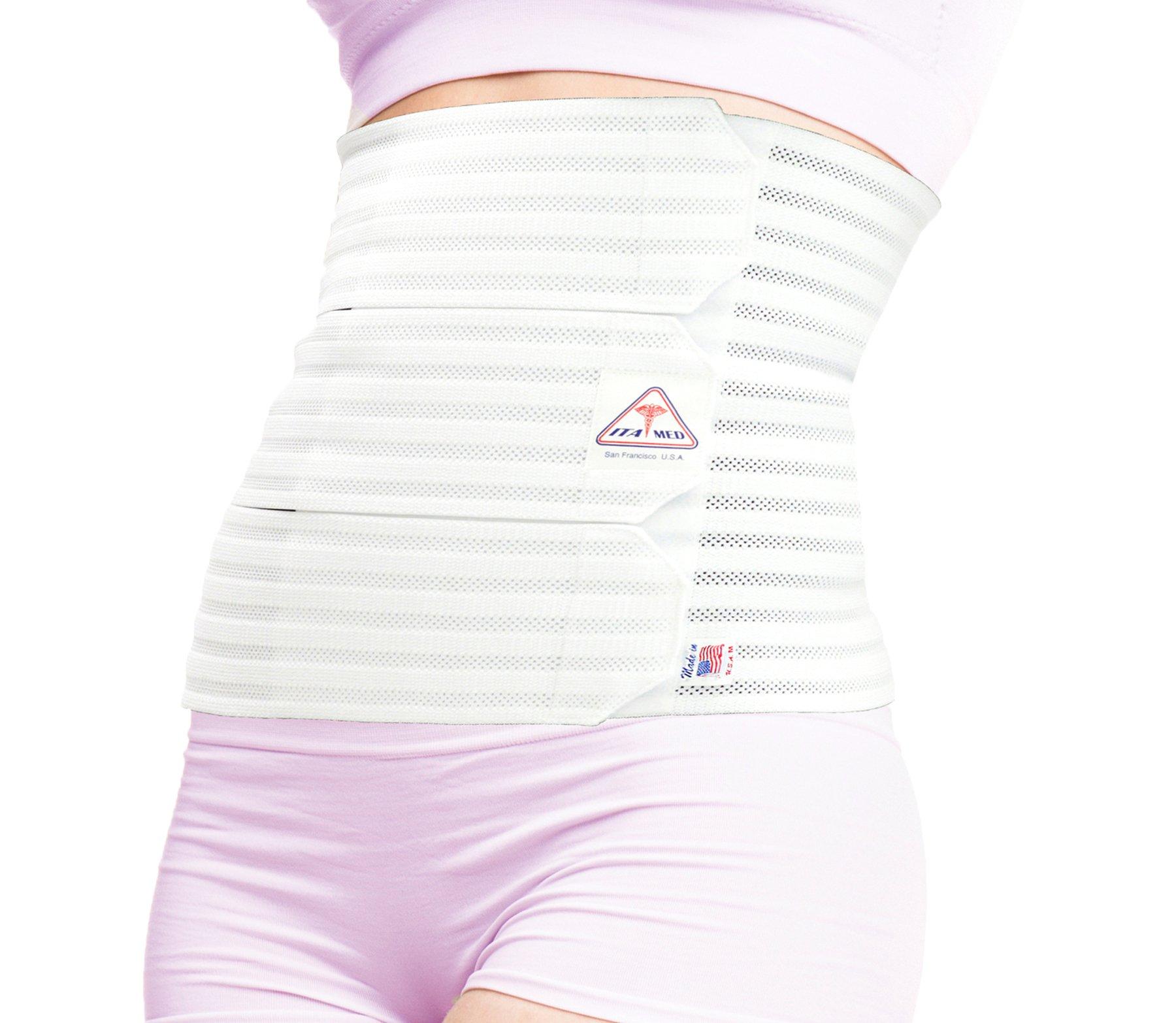 ITA-MED Women's Breathable Elastic Abdominal Binder (12'' Wide), Medium