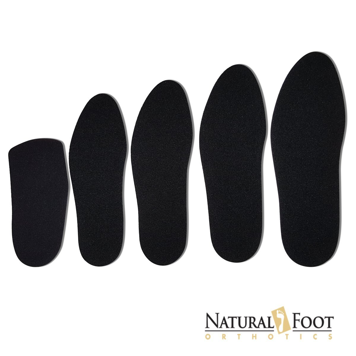 Natural Foot Orthotic Cushions, Natural Sponge Rubber Cushions with a Nylon Covering Perfect to be Worn Over Orthotic Arch Support Insoles. Mens Size 12 by NATURAL FOOT ORTHOTICS