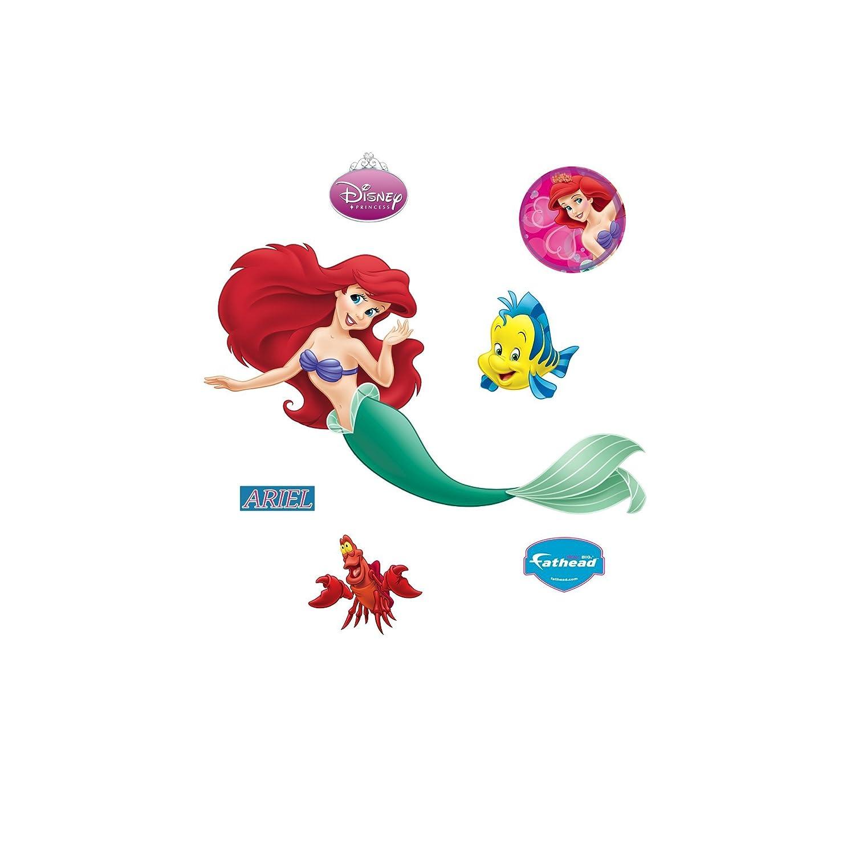 Amazon.com: Fathead Disney Princesses: Ariel Wall Decal: Home U0026 Kitchen