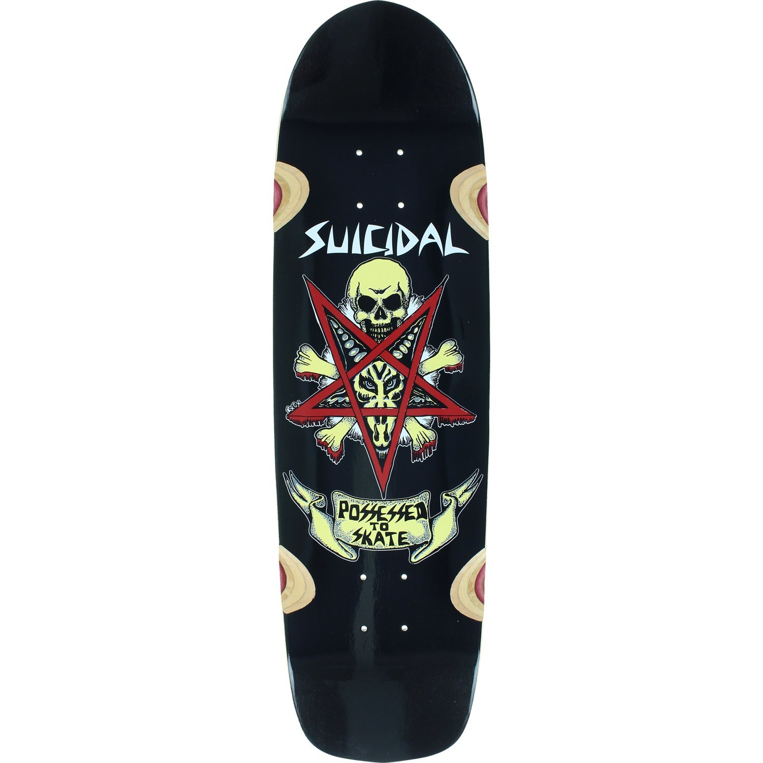 Suicidal Skates PTS Pool Deck -8.75x32.5 Assembled as COMPLETE Skateboard by Suicidal