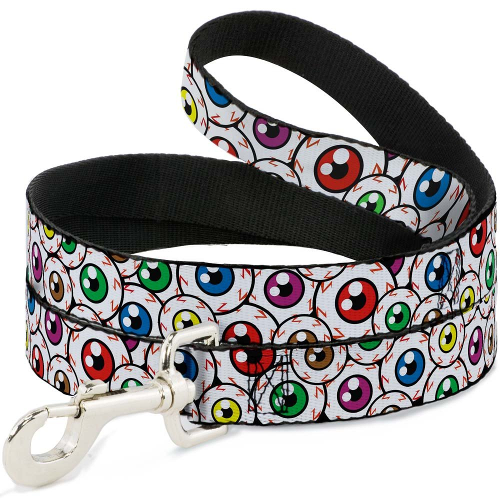 6 Feet Long 1\ Buckle-Down Pet Leash Eyeballs Stacked 6 Feet Long 1  Wide