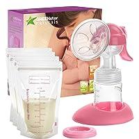Advanced Breast Pump Set W/Bottle & Bags: Easy, Hand-Free Breastfeeding for Mom....