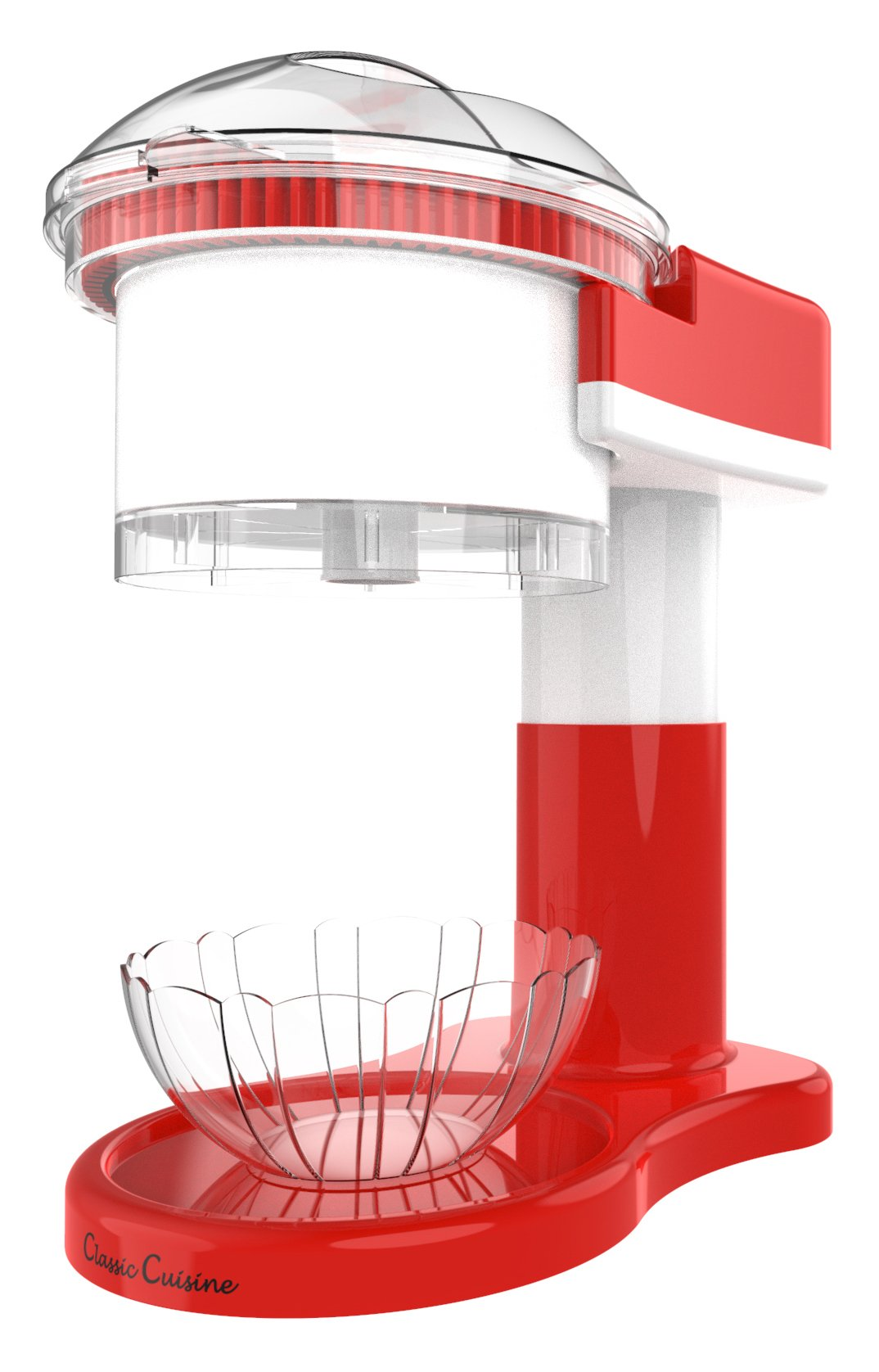 Shaved Ice Maker- Snow Cone, Italian Ice, and Slushy Machine for Home Use, Countertop Electric Ice Shaver/Chipper with Cup by Classic Cuisine by Classic Cuisine