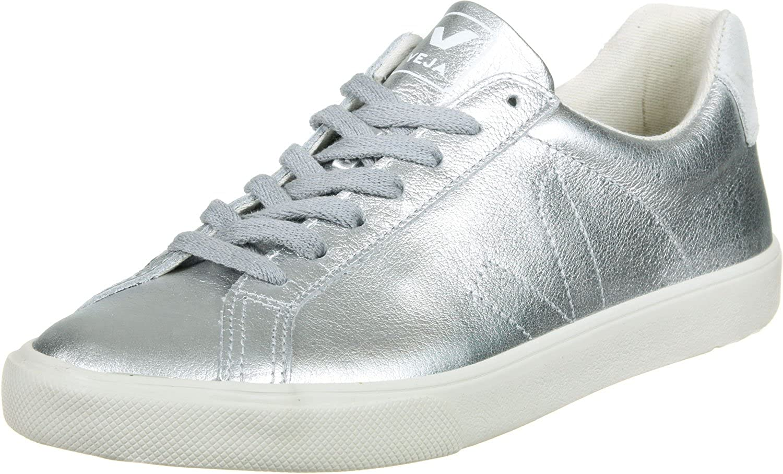 Veja Esplar Low Leather W Shoes Silver