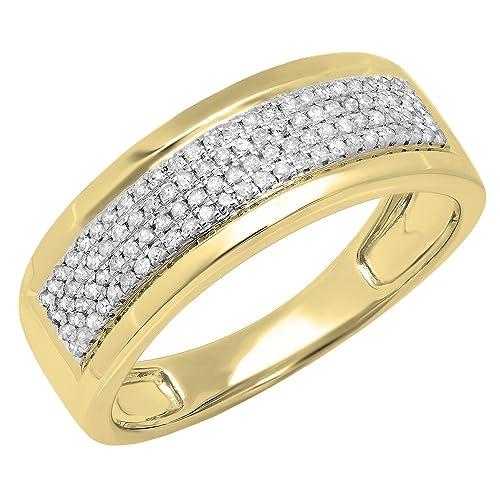 DazzlingRock Collection 0,40 Carat (quilate) 14 K Oro Redondo Blanco Diamante Hombres