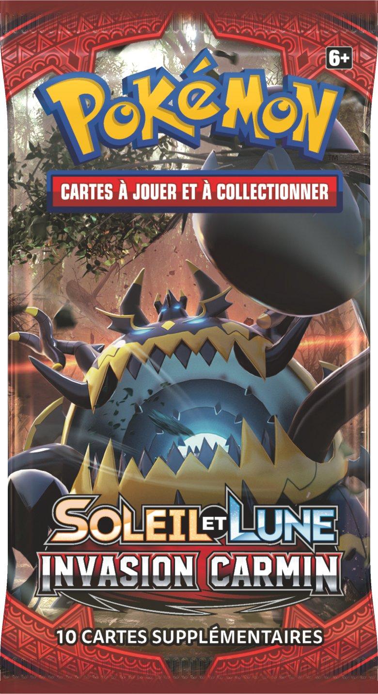 /Booster Pok/émon Sol y Luna Invasi/ón Carmes/í Asmodee/ Versi/ón Francesa