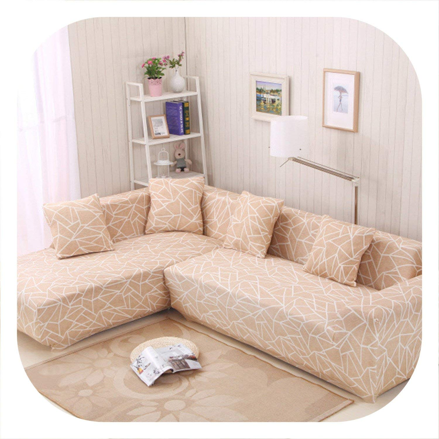 Amazon.com: New face 2 Pieces Covers for Corner Sofa Chaise ...
