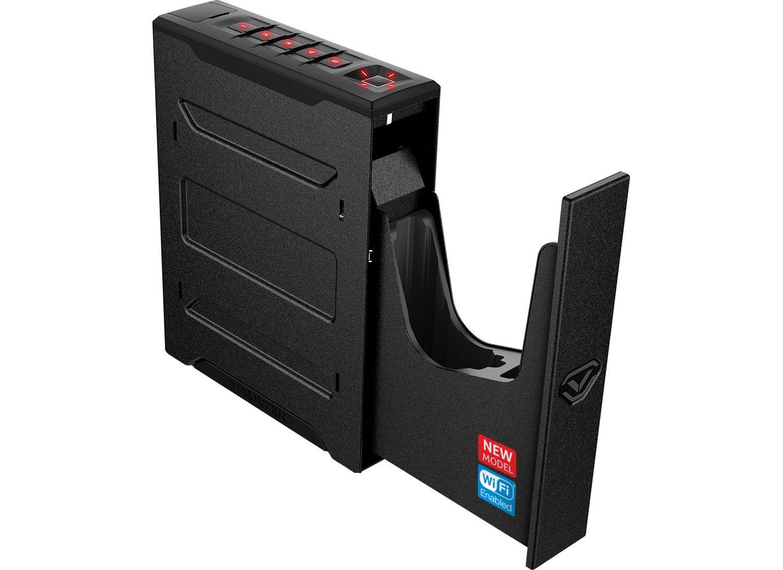 Vaultek Wi-Fi Slider Series Rugged Smart Handgun Safe with Alerts to Smartphone Quick Auto-Open Sliding Door Pistol Safe with Rechargeable Li-ion Battery (Biometric) by Vaultek