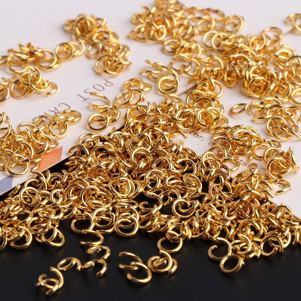 ZOOMY 500 St/ück//Set 4mm vergoldet /Öffnung Biegeringe Anschl/üsse Schmuckherstellung Kit