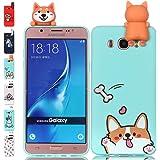 Universecase Custodia Samsung Galaxy J6 2018 3D Squishy Kawaii Toy Animal Silicone Case Cover Anti-Graffio