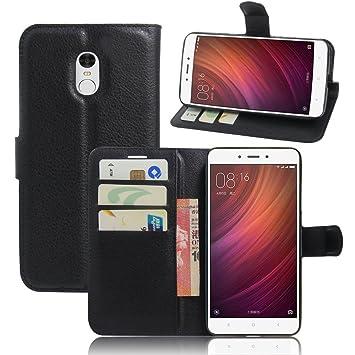 OFU? Para Xiaomi Redmi Note 4 Funda,Cartera Cuero Funda de Piel Wallet Case para Xiaomi Redmi Note 4 Carcasa Flip Case Cover con Función ...