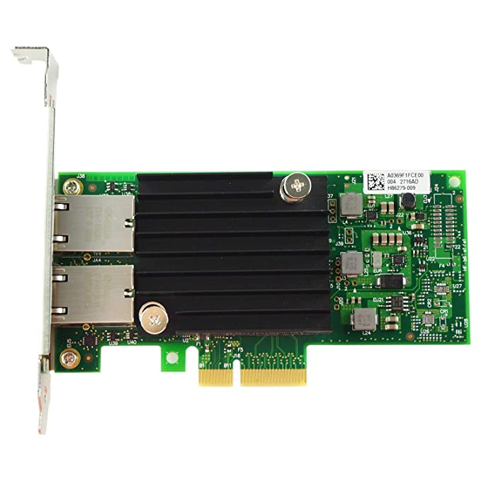 SODIAL Tarjeta de Red Nic PCI-E de 10 GB, para X550-T2 con Chip ...