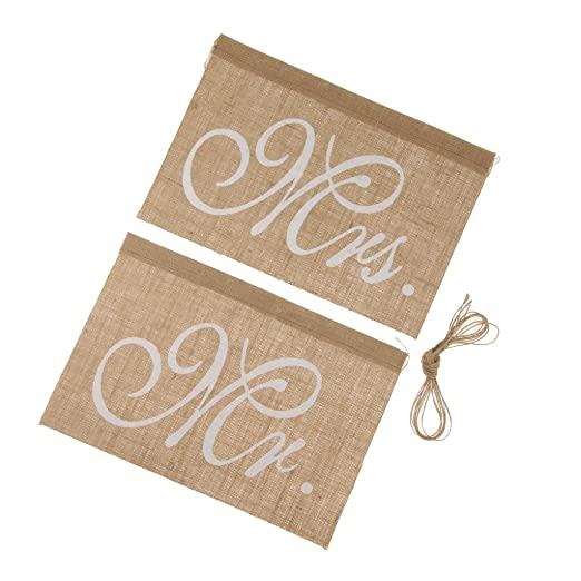 Homyl Vintage Chair Bunting Mr & Mrs - Cartel de Yute para ...