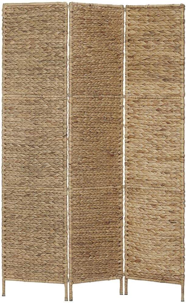 vidaXL Biombo Divisor 3 Paneles Jacinto de Agua Decoración Interior Ambientes Casa Hogar Muebles Mobiliario Vitrinas Armarios Complementos 116x160 cm