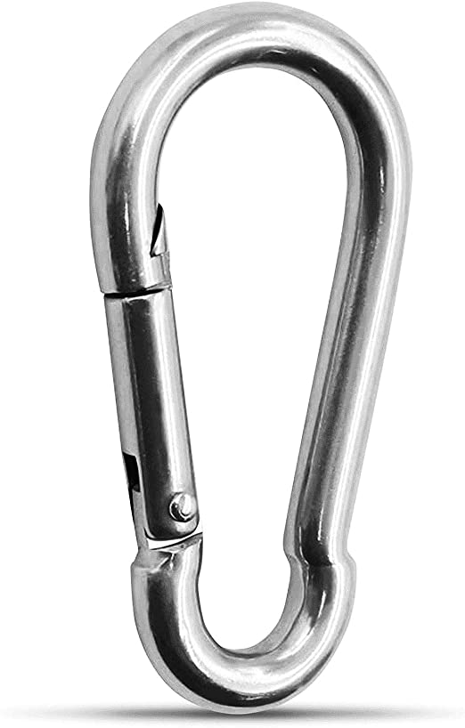 mnxo SUS304 Stainless Steel Heavy Duty 1000LBS Carabiners Clip with Security Screw Lock