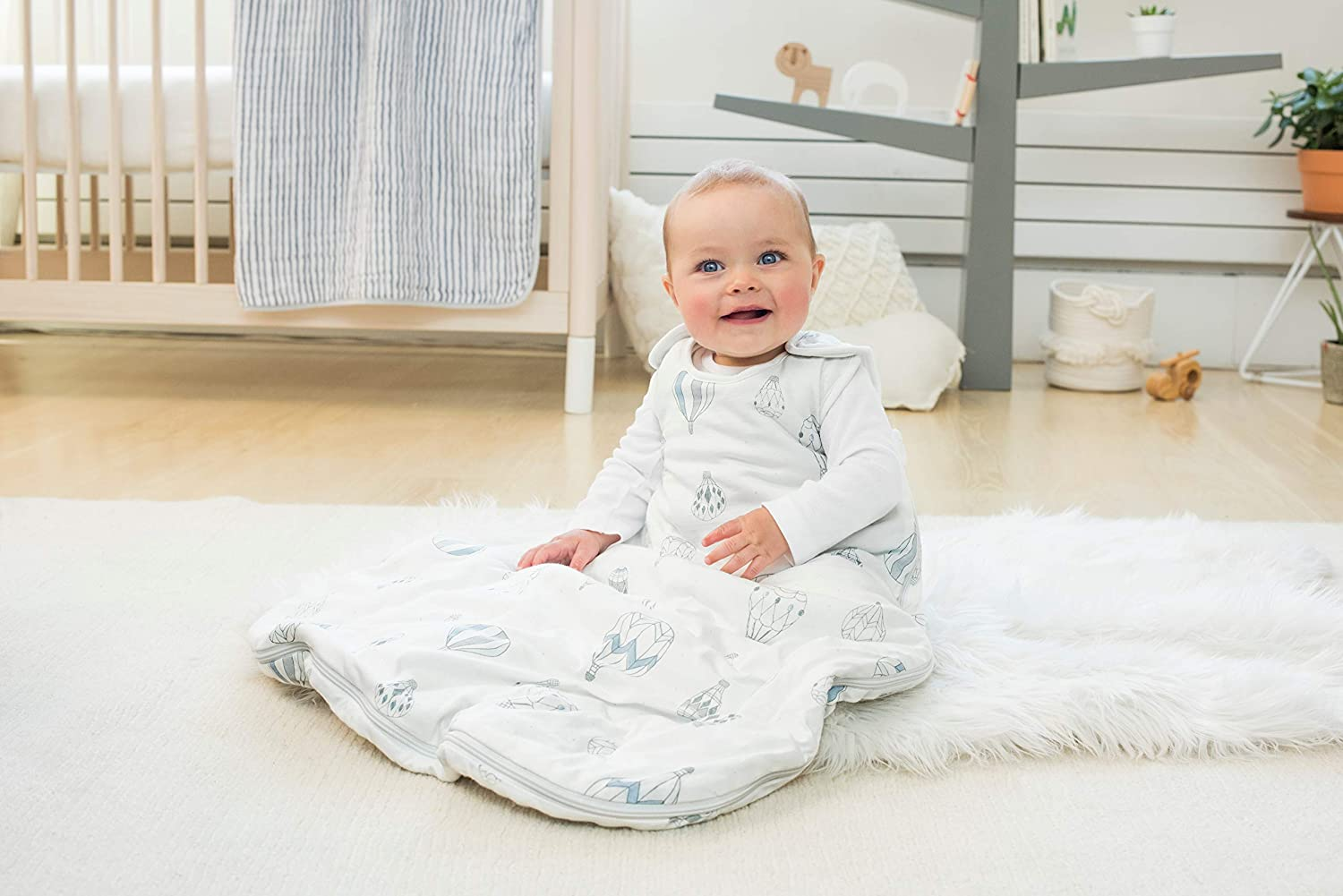 100/% cotton shell and lining with 100/% polyester fill night sky 2.5 TOG 6-18 m aden anais winter sleeping bag