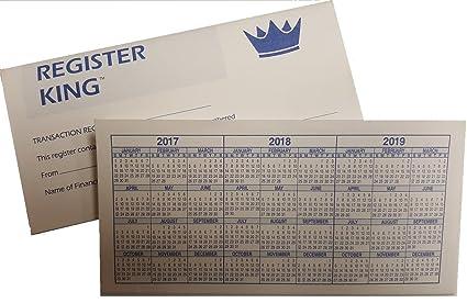 easy read register checkbook transaction registers 2018 2019 2020