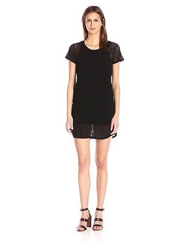 bca6fd7dea6 Amazon.com  Michael Stars Women s Mesh Tee Shirt Dress  Clothing
