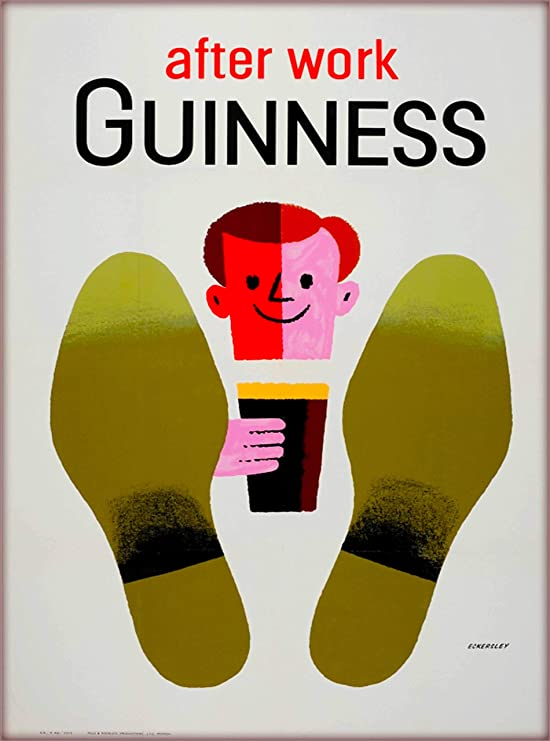 Vintage Guinness Time Christmas Advertisement Poster Print A3//A4