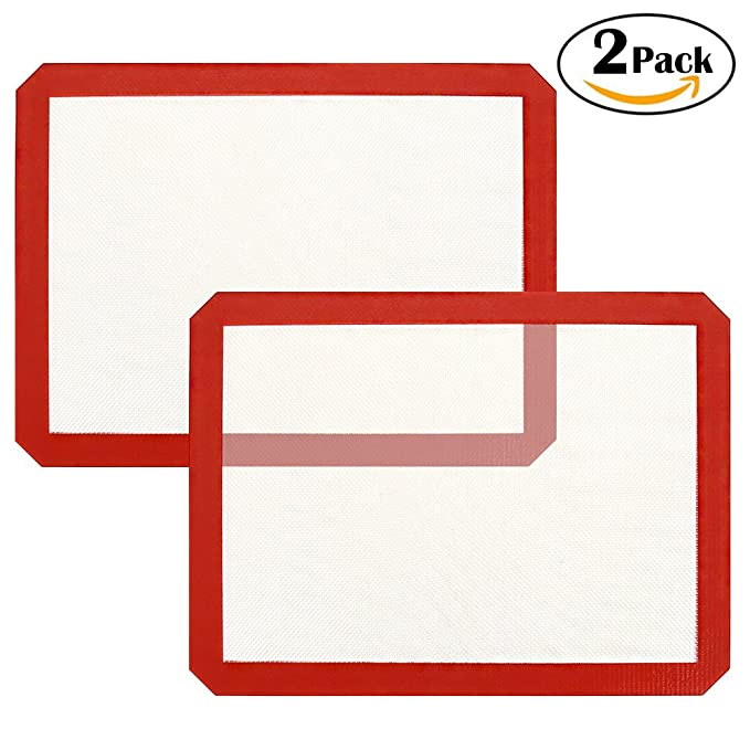 2 Piece Silicone Baking Mat, SiFREE silicone baking sheet cooking mat for Macaron,Pastry,Cookie,Bread