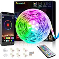 LED Strip Lights 20ft, RGB LED Light Strip with Smart APP Control, 44 Keys IR Remote, Music Sync Color Changing Rope…