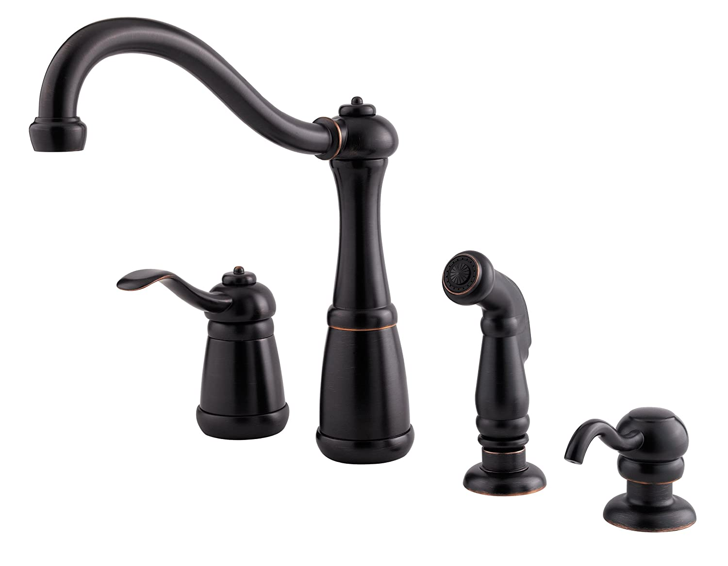 Pfister LG264NYY Marielle 1-Handle Kitchen Faucet with Side Spray ...
