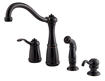Pfister Lg264nyy Marielle 1 Handle Kitchen Faucet With Side Spray