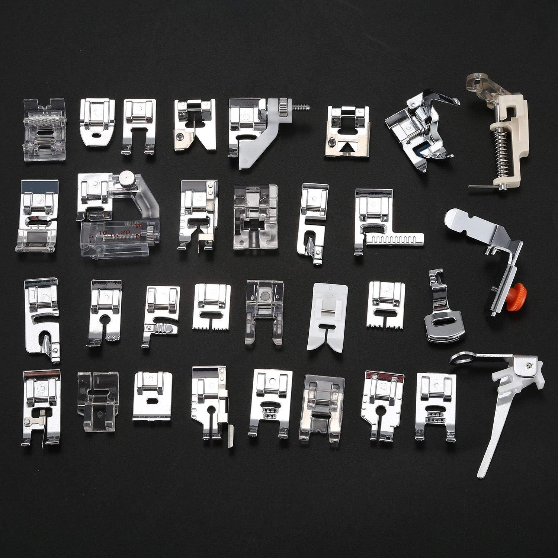 Kamenda 32pcs Pieds-de-biche Multifonctionnel pour Machine a Coudre domistique