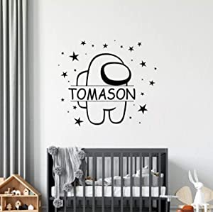 PotteLove Custom Name Wall Stickers Family Kids Room Cute - Customized Indoor Furniture Wall Window Cup Laptop Decal Windshield Sticker Decorative for Interior Vinyl 20